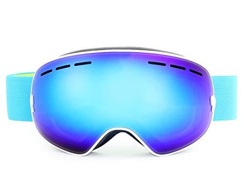 Aienid Fahrrad Sportbrille Weiß Blau Skibrille Winddichter Augenschutz Size:7X10CM