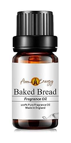 Pure Baked Bread Fragrance Oil, 10ml - Ideal for Aromatherapy, Oil Burner, Diffuser, Home Made Making, Potpourri, Candle, Soap, Cosmetic, Slime, Bath Bomb, Air Freshener