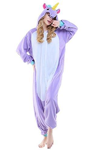 Pyjama Licorne Pyjama Licorne Adulte Kigurumi Combinaison Animaux Unicorn New Purples Unicorn
