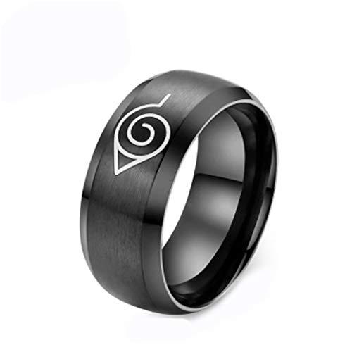 Herren Naruto Schmuck Mode Titan Stahl Silber Ringe,Größe 52 (16.6) (Ringe Naruto)