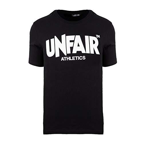 Unfair Athletics Herren T-Shirt Classic Label UNFR18-001 Schwarz Black, Größe:L