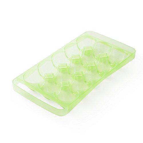 1Küche Ei Aufbewahrungsbox Organizer Aufbewahrung Kühlschrank Ei 24Eier Organizer Outdoor tragbar Behälter Aufbewahrung 2# grün