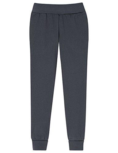 Schiesser Mädchen Schlafanzughose Mix & Relax Jerseypants, Grau (Graphit 207), 152 (Herstellergröße: S)