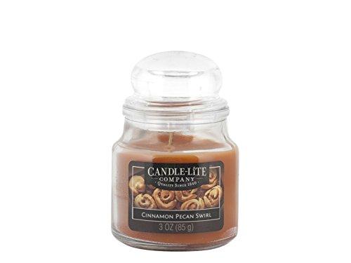 Scheda dettagliata Candle-Lite 6051 Candela Profumata Cinnamon Pecan Swirl, Cera, Marrone, 6 x 6 x 9 cm
