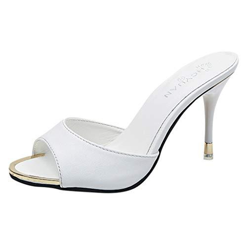 Feixiang sandali estive scarpe donna eleganti con tacco alto moda sexy tacchi alti festa peep toe sandali da sera high heels shoes da sposa classico casuale pantofole da passeggio traspiranti