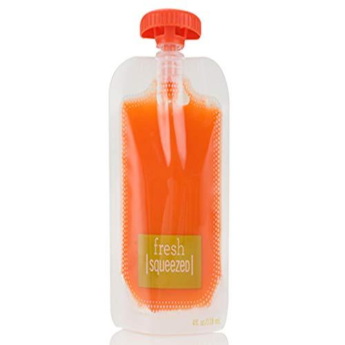 ZXLIFE@@ Kinderpüree Squeezer Supplement Aufbewahrungsbeutel, Babynahrung Ergänzungsmaschine Zubehör Supplement Löffel Kinderpüree Frucht (50 Stück)