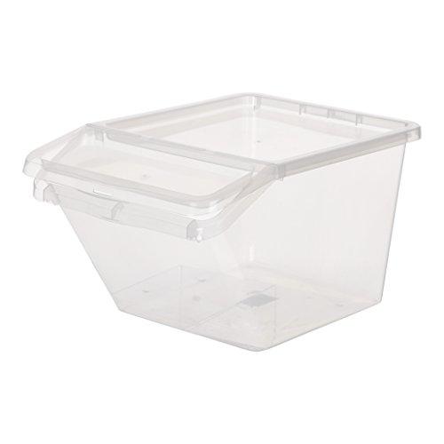 Preisvergleich Produktbild Aufbewahrungsbox, Sortierbox aus Kunststoff in Transparent. Mit ca. 48 Liter Volumen. Stapelbar. Maße BxTxH in cm ca.: 39,4 x 59,7 x 31,2 cm