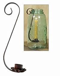 Mason Jar Taper Candle Holder - Candle Holder Only - Quart / Black