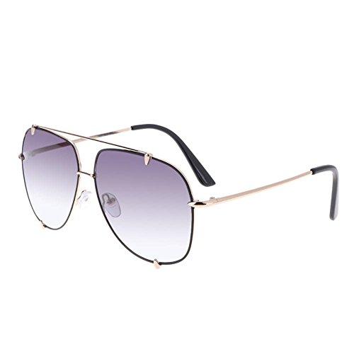 Domybest Mode Damen / Männer Transparent Gradient Metallrahmen Reisen Sonnenbrille (2)