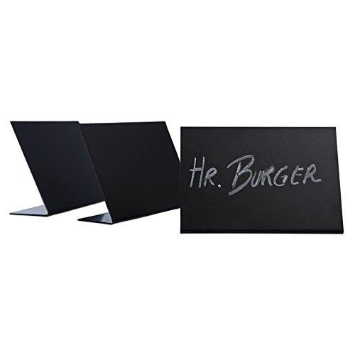 10 x Schieferlack L-Aufsteller/Preisschilder / Tafeln schwarz | DIN A7 quer