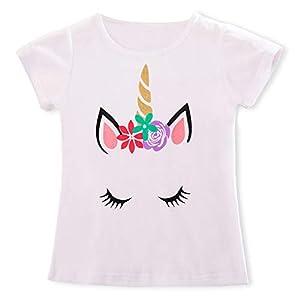 TTYAOVO Camiseta para niñas Unicornio,