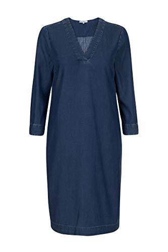 Promiss Damen Damen Tunic Dalmys - Tunika Aus Einer Angenehm Weichen Lyocell-Baumwoll-Mischung Mit Denim-farbgebung Blau, 038