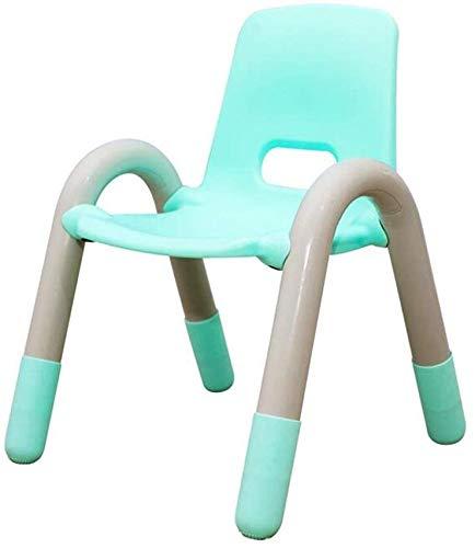 MJK Sillas para niños, plástico fuerte, apilable, fiesta de picnic, jardín, jardín de infantes, aula interior y exterior,Azul,Pequeño