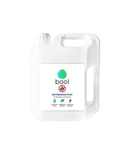 Bug-entferner-spray (boo! Bettwanzen Stop I Anti-Bettwanzen-Spray Mit Langzeitwirkung I Hochwirksames Insektizid Auf Wasserbasis I 5 Liter)
