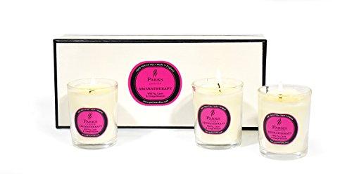 Parks (London) Ltd 3 TLG. Set Glasset: Wilde Feige, Cassis, Orangenblüten, Glas, 100% natürliches Wachs, Bunt -
