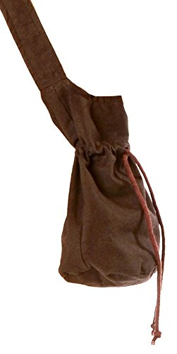 Hemad borsa a tracolla medievale - borsa in cotone – s marrone