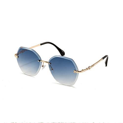 ZYYJ Sonnenbrille, Farbe Marine Film Sonnenbrille Damen UV rahmenlose trimmen Sonnenbrille weibliche koreanische Version der Flut Sonnenbrille, Damen Sonnenbrille@Stil 4