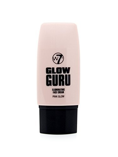 W7 Glow Guru Illuminating Face Highlighting Cream 35ml-Pink Glow