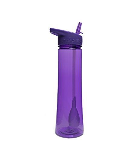 Purple - 22oz Refresh2go Sleek Water Filter Bottle by Refresh2go