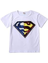 62073451f Flip Lentejuelas para niñas Boys niños Magic Camiseta de Sequin 3-13 años ( Talla