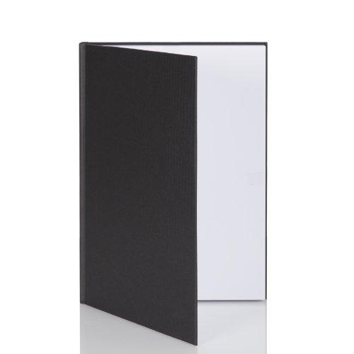 Rössler Papier 1878452702, S.O.H.O. Notizbuch A4, 192 Seiten, schwarz Leere-seiten-buch