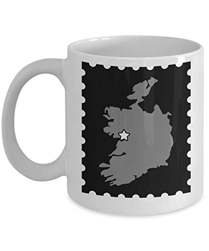 Irish Lovers Hometown Gift - 11 oz Ceramic Cup for Coffee Tea Hot Chocolate. Drinks - 11 oz ()