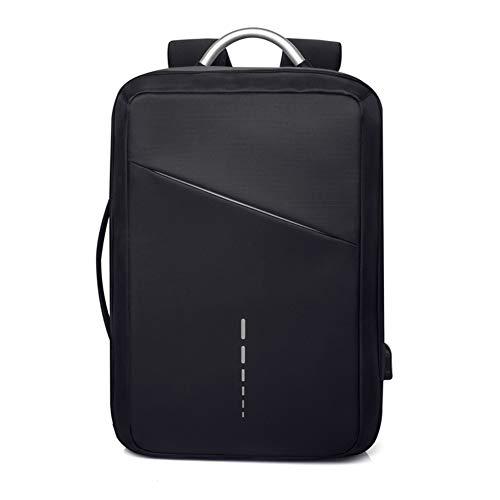 NIMYEE Rucksack in Oxford Tuch/Rucksack mit Sicherheit Reflektierende Streifen für Laptop-Reisen Schule Arbeit/Wasserdicht Leicht/Männer & Frauen,Schwarz
