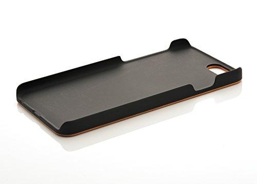 iProtect TPU Schutzhülle Apple iPhone 6, 6s (4,7 Zoll) Soft Case - flexible Hülle in Holz-Design hölzern braun Kirschbaumholz+PC Hardcase