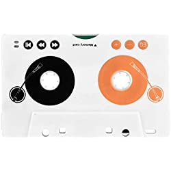 Zerone kit d'adaptateur de Cassette pour Voiture, stéréo SD MMC Lecteur MP3avec aux/télécommande/écouteurs, Prise EU