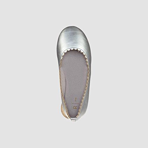 Abcd'r Mdchen Ballerinas Fur Kinder Silberfarben