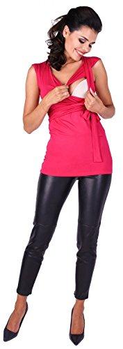 Zeta Ville Maternité - Top de grossesse - Tee-shirt d'allaitement - femme - 094c Fuchsia