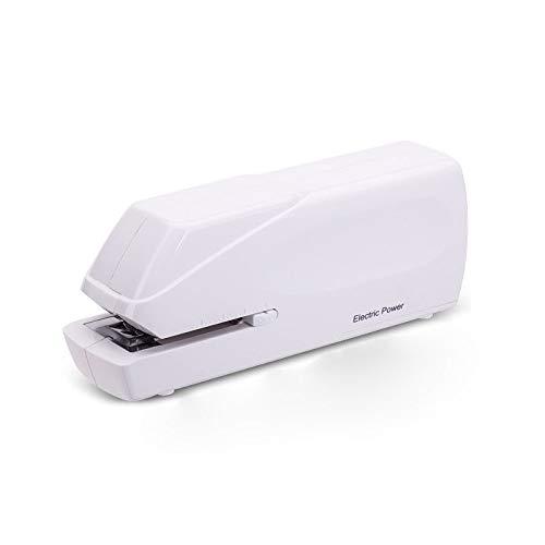 ZZWBOX Elektrische Staple,Elektrische Kapazität elektrischer Hefter,Desktop elektrische Hefter,Doppelte Stromversorgung, kann bis zu 20 Blatt gleichzeitig durchdringen,White (Staples Ladegerät)