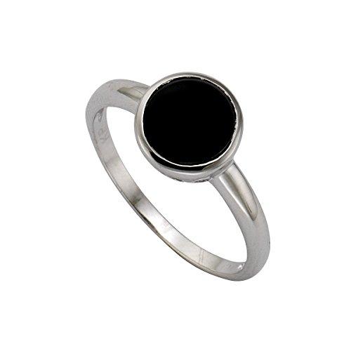 Zeeme Silber Damen Ring 925 Sterling Silber rhodiniert Zirkonia schwarz Gr. 52 (16.6) 358270683-052
