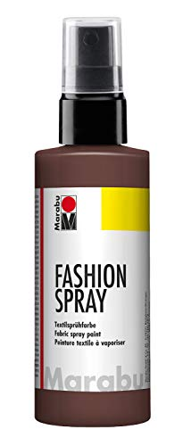 Marabu 17190050295 - Fashion Spray, Textilsprühfarbe, m. Pumpzerstäuber, für helle Textilien, weicher Griff, einfache Fixierung, waschbeständig bis 40°C, tolle Effekte auf Stoff, 100 ml, kakao (Einfachste Kostüm)