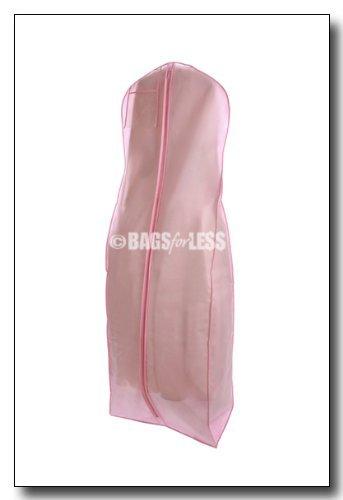 Sacs pour moins de neuf rose clair respirante pour robe de mariée vêtement sac