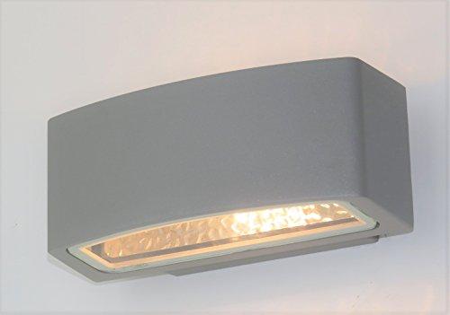 Lampade Da Esterno Moderno Da Parete : Applique lampada parete per esterno moderno silver rettangolare