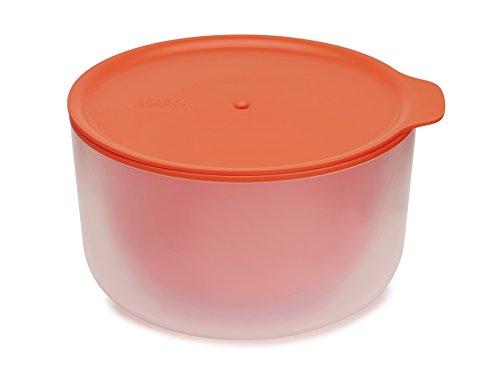 Joseph Joseph 45009 M-Cuisine Doppelwandige Mirkowellen-Schüssel Groß 2 L, Kunststoff, 22,5 x 21 x 11,4 cm, - Orange Mikrowelle
