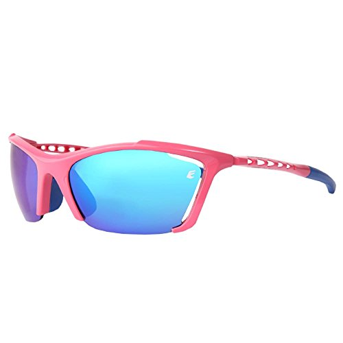 Eassun Track - Gafas de sol unisex, color rosa, talla S