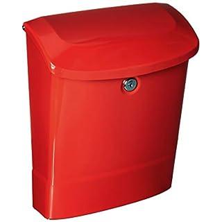 Parkside Briefkasten, abschließbar, mit Wandhalterung, rot