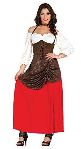 Fiestas Guirca Kostüm Mittelalterliche Wirtin Bürgerliche Schäferin