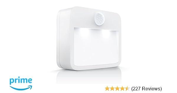Brandson LED Nachtlicht mit Bewegungsmelder und Helligkeitssensor Dämmungs...