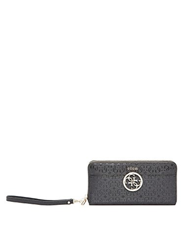 GUESS Devyn SLG Large Zip Around Cameo Nero