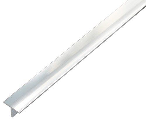 GAH-Alberts 488925 T-Profil - Aluminium, edelstahldesign, hell, 1000 x 15 x 15 mm