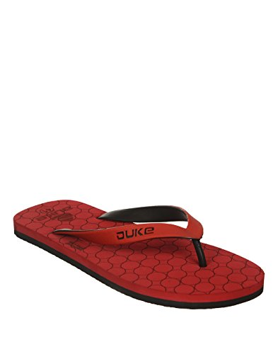 Duke Men's Red & Black Coloured Pvc Slippers 9  available at amazon for Rs.250