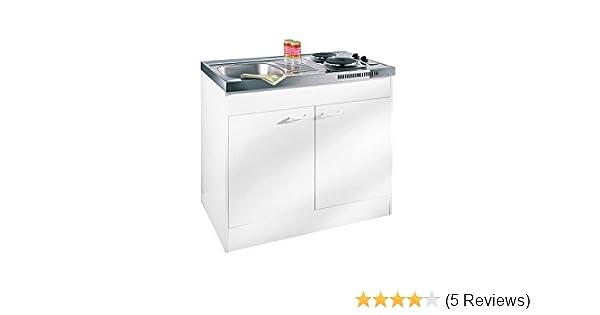 Miniküche Mit Ceranfeld Ohne Kühlschrank : Respekta miniküche single pantry küche küchenblock 100 cm weiss ohne