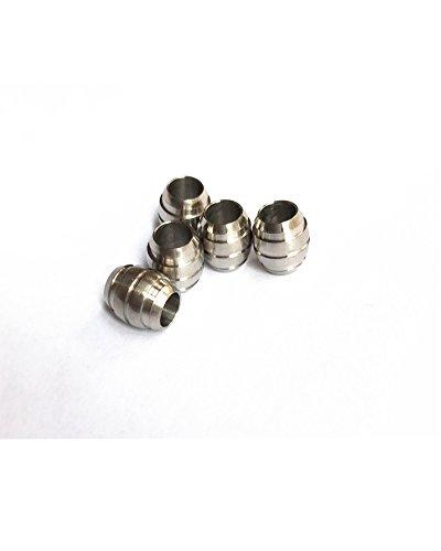 Drum Stil Titan lang Messer/Zipper Pull Jewelry Paracord/Lanyard Perlen 10mm 5Stück