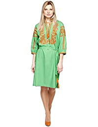 Bordado Vestido Largo Verde para Mujer. vyshyvanka. Ucrania bordar vestido