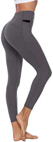 Persit Sporthose Damen, Sport Leggins für Damen Yoga Leggings Yogahose Sportleggins, Grau, 36 (Herstellergröße: S)