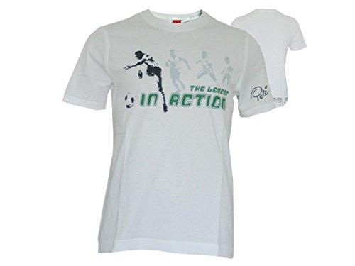 Puma Pele T-Shirt RARITÄT Sonderkollektion Fußball WM 2014 Brasilien verschiedene Farben, Größe:S, Farbe:weiß