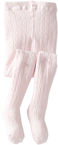 Jefferies Socks Little Girls' Cable Tight, Pink, 2-4 Years